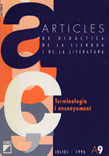 REVISTA ARTICLES - 009 (JULIOL 96) - Terminologia i ensenyament